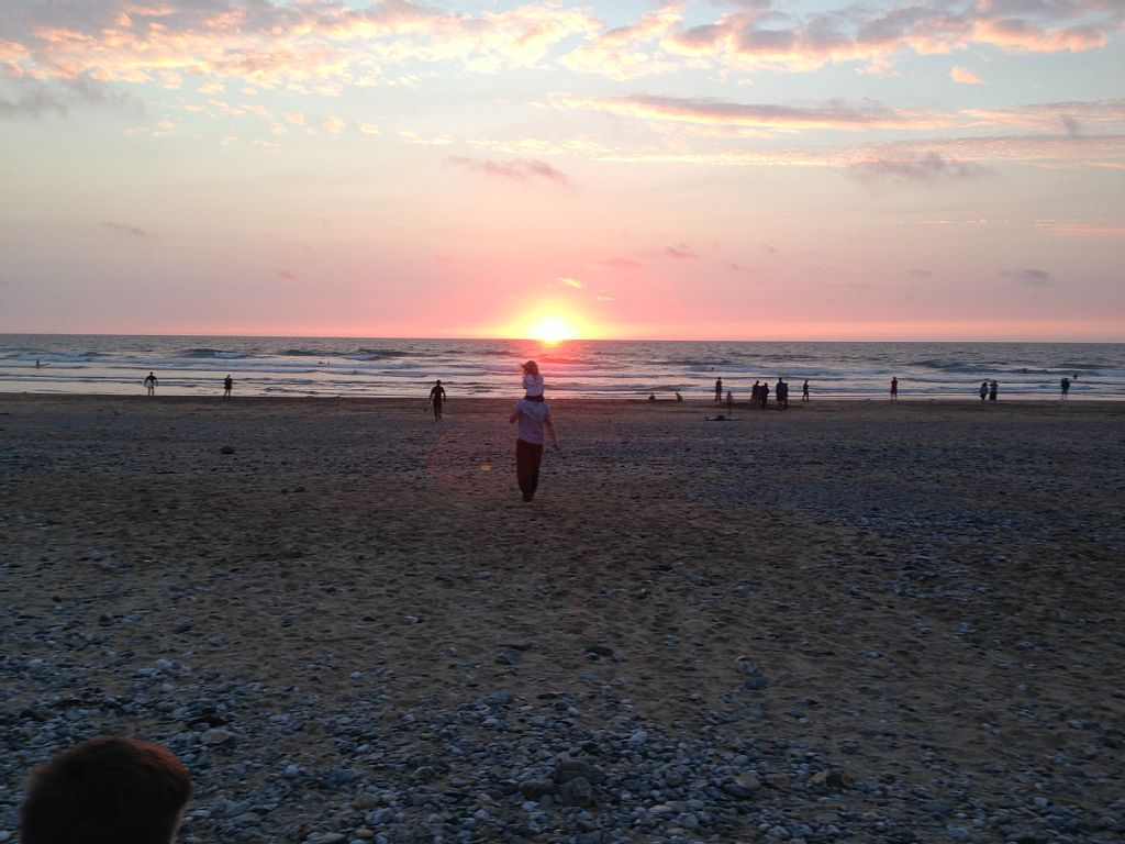 Sunset at Porthtowan Beach