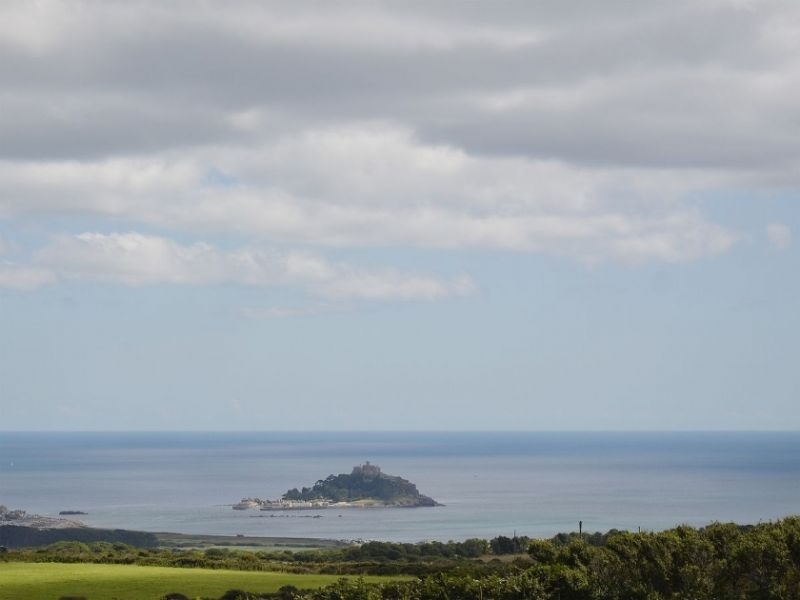 Marazion and St Michael's Mount in the distance