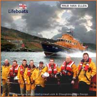 RNLI Lifeboat Crew off Newlyn and Mousehole in Cornwall March 2006 - photography by www.choughmountain.eu