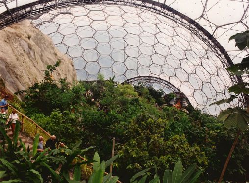 Inside Eden - early days of the Rainforest Biodome