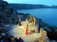 Evening performance at the Minack