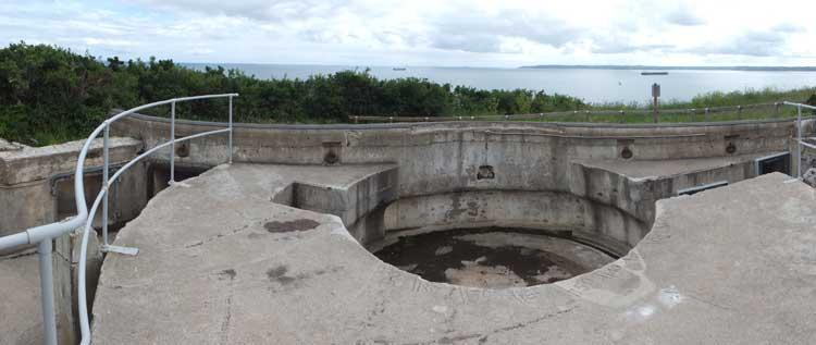 Gun-pit at St Anthony Battery