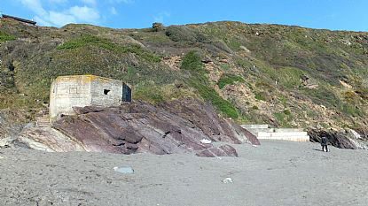 Pillbox on Finnygook Beach, Portwrinkle