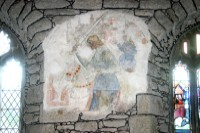 Medieval wall painting, St Just Church, Penwith, Cornwall