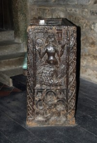 Mermaid Chair, Zennor Church, St Sennara, Cornwall