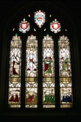 16th Century Stained Glass Windows, St Neot Church, Cornwall