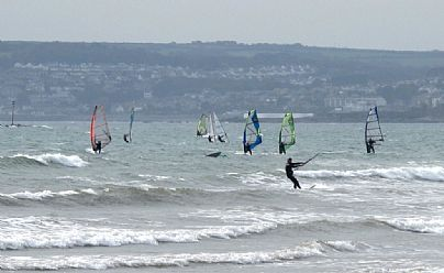 Windsurfing at Marazion