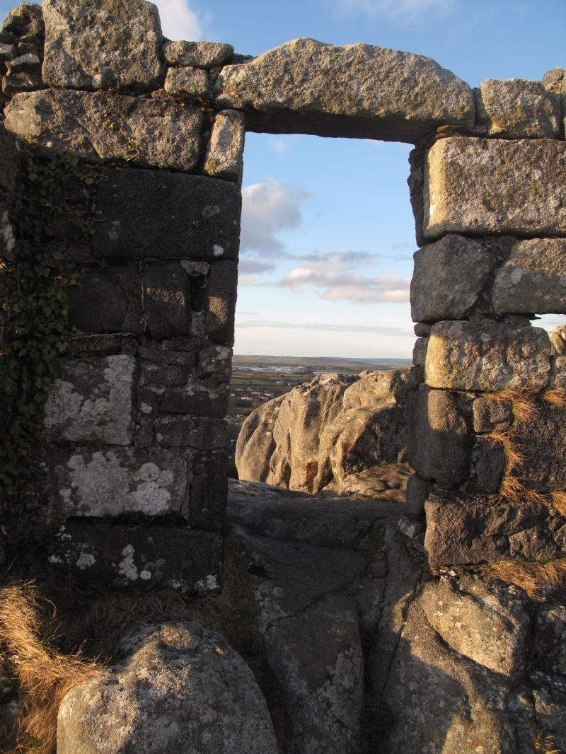 Interior of St Michael's Chapel on Roche Rock
