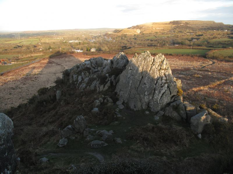 View to the China Clay Area from Roche Rock