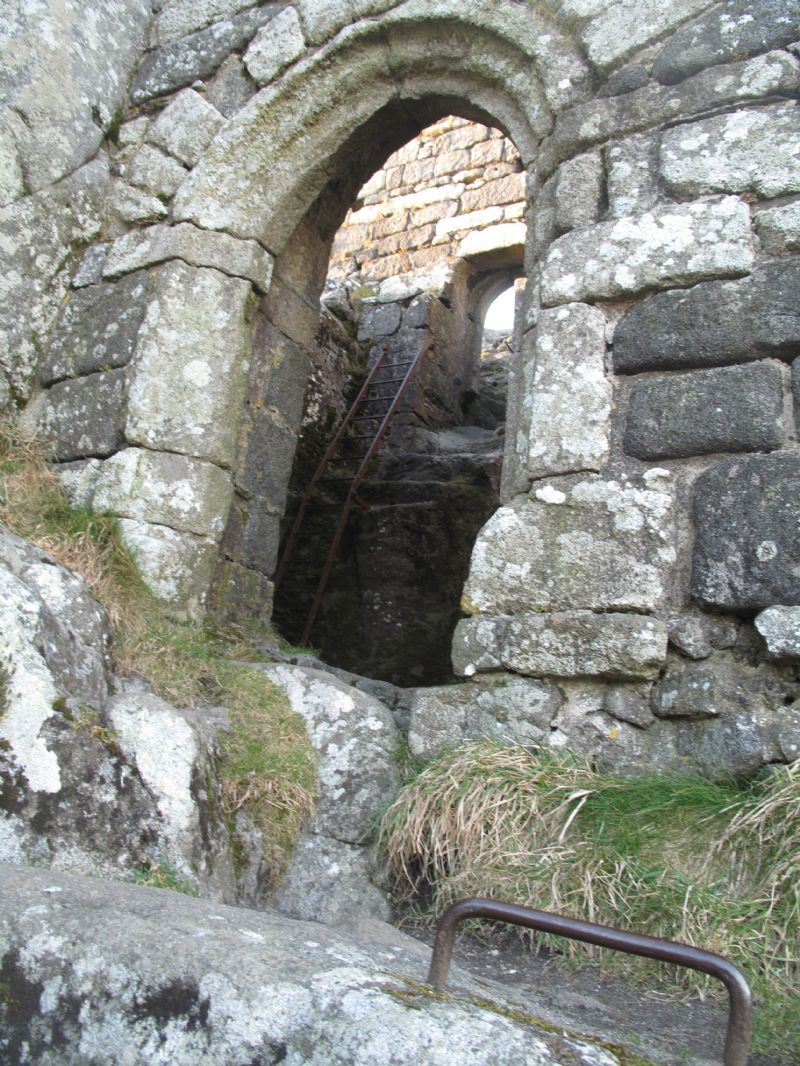 Entrance to St Michael's Chapel on Roche Rock