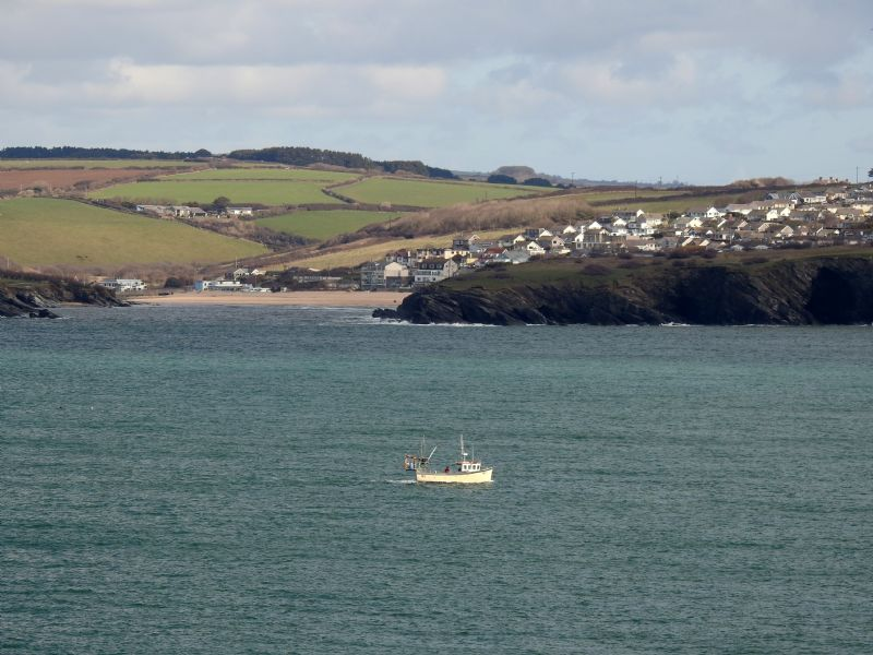 Fishing Boat Heading for Newquay Harbour