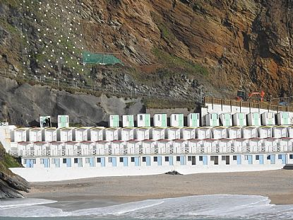 Beach Huts, Tolcarne Beach, Newquay