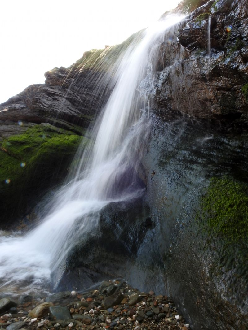 Waterfall on Hallane Beach