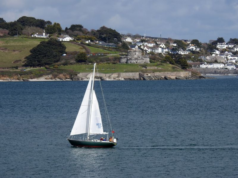 The Carrick Roads between Falmouth and St Mawes