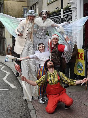 Christmas Street Entertainment in Penzance