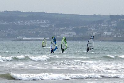 Windsurfing at Mount's Bay