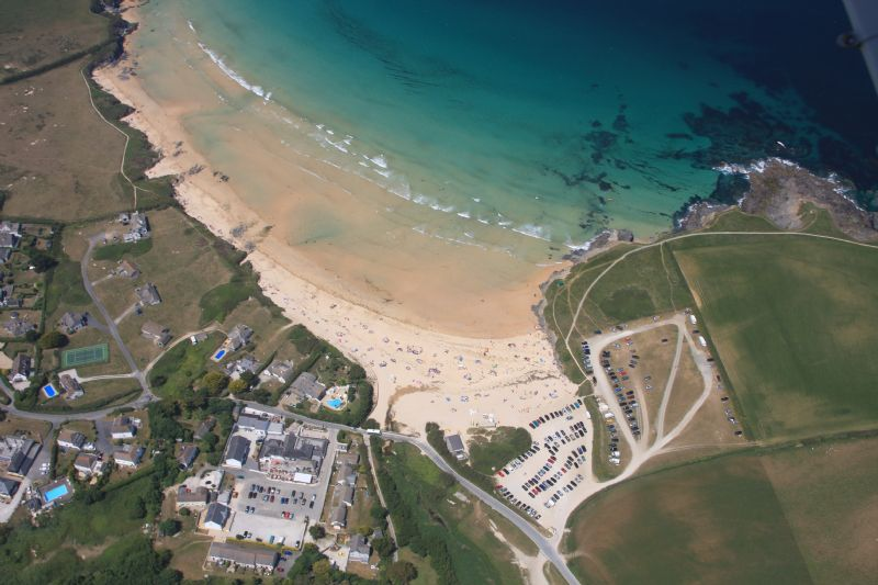 Harlyn Bay - Aerial view of beach