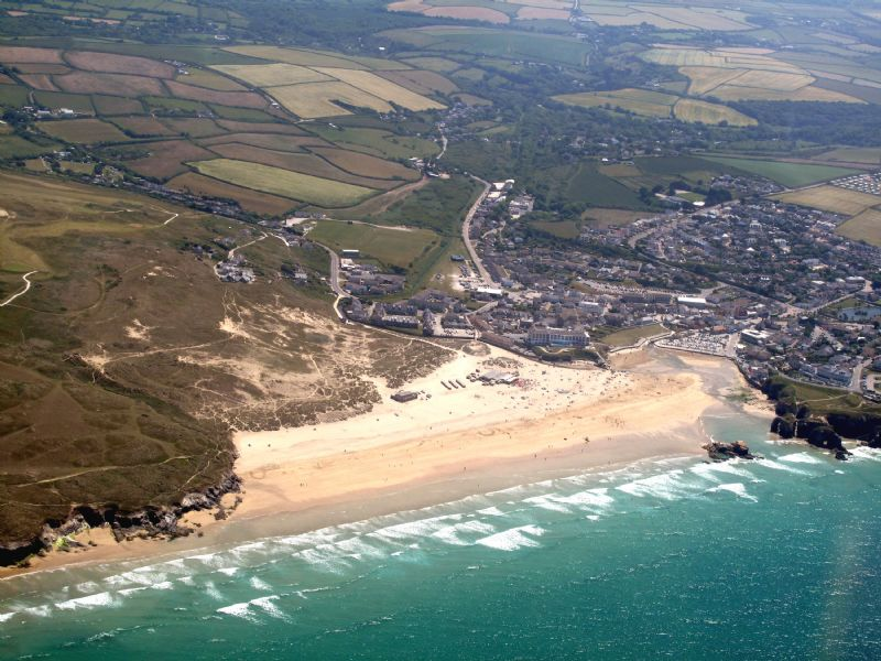 Perranporth Beach from the air