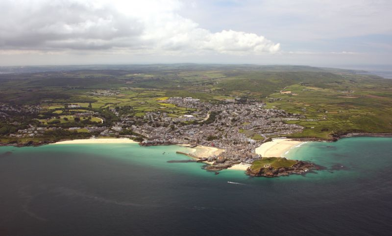 St Ives, its beaches and harbour