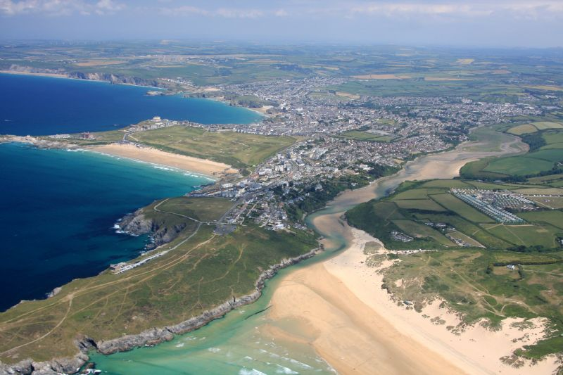 Crantock beach, Fistral beach and Newquay