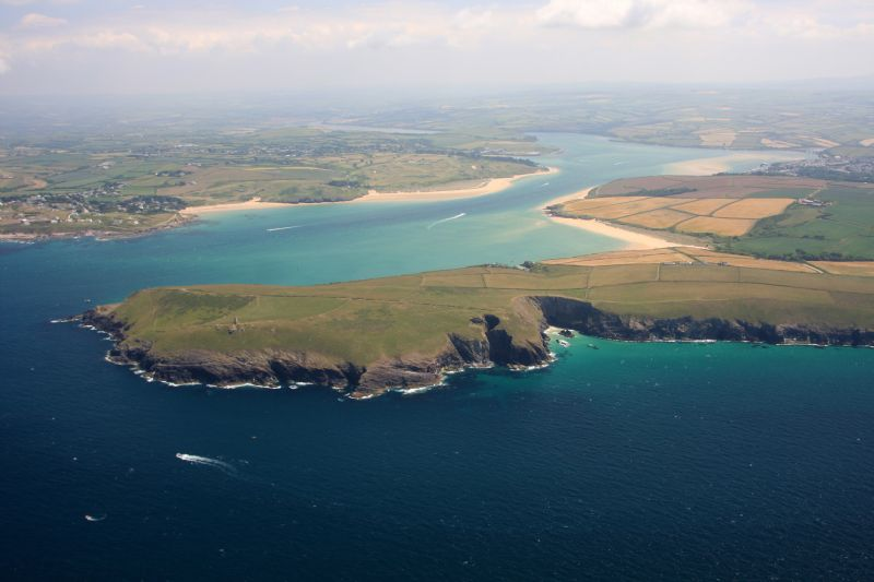 Camel estuary with Padstow in the background