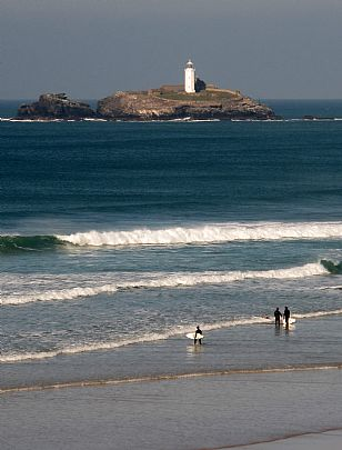 Godrevy Lighthouse from Gwithian Beach
