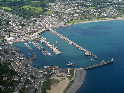 Newlyn Harbour from the air