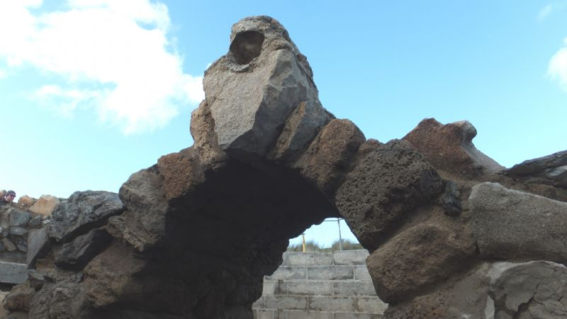 Ancient stonework in St Piran's Oratory