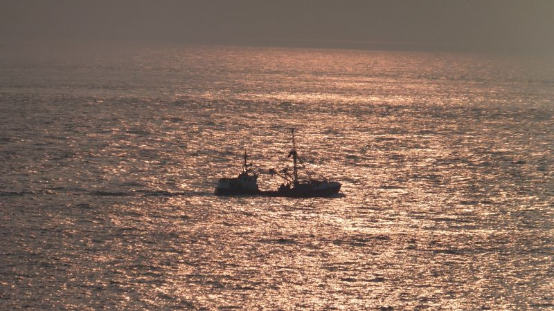 Fishing Boat at Sunset, Land's End