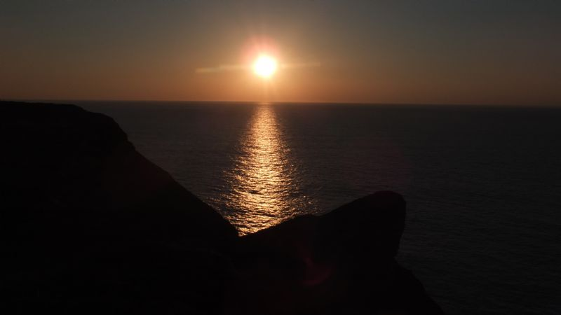 Sunset from the coast path, near Portreath