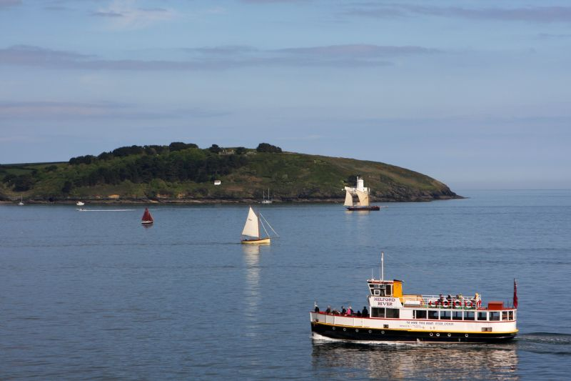 Pleasure cruising in Falmouth Bay