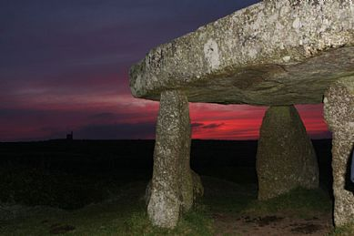 Dawn on the Summer Solstice at Lanyon Quoit, Madron