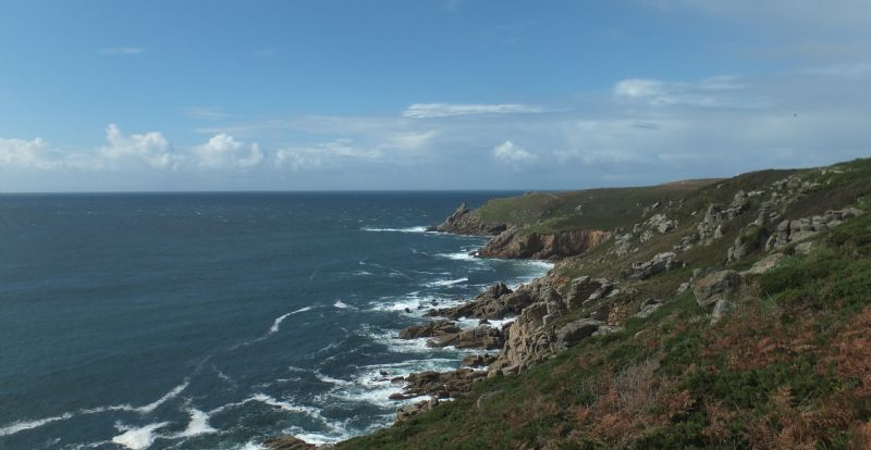 View from the Coast Path between Porth Chapel and Porthgwarra
