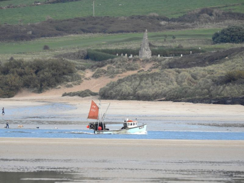 Fishing Boat Returning to Port at Padstow