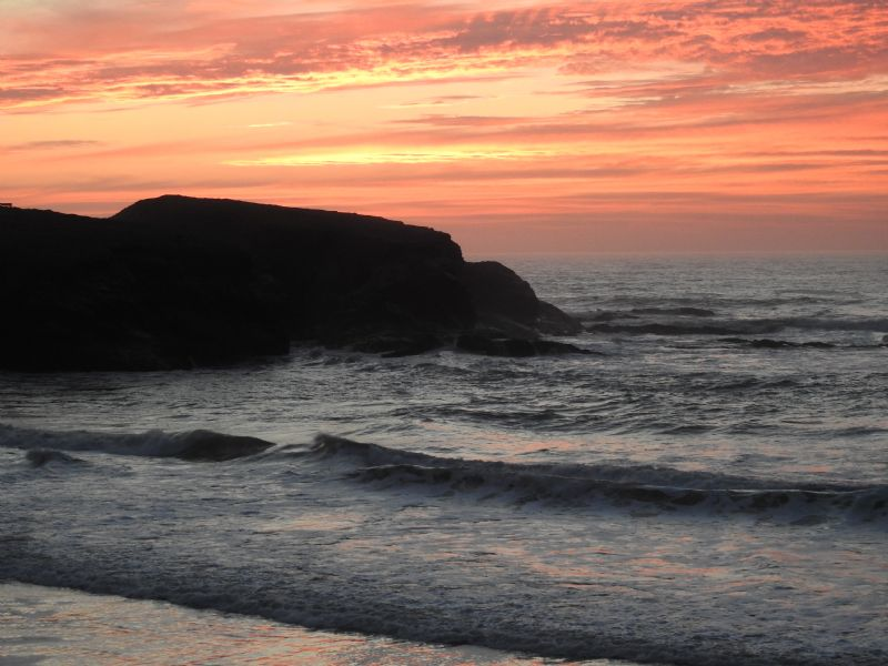 Treyarnon Bay at Sunset