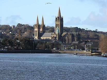 Photo Of Truro Cathedral From The Truro River Cornish