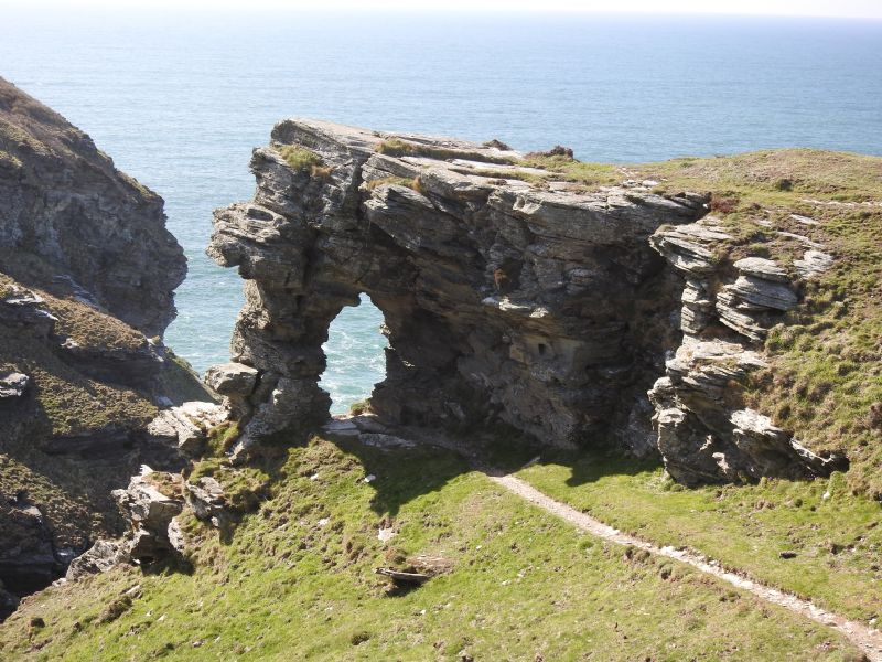 Lady's Window between Boscastle and Tintagel
