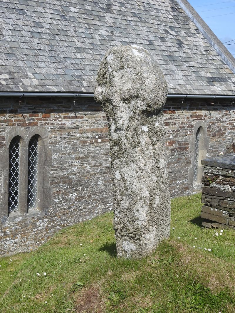 Cross in Trevalga Churchyard, North Cornwall