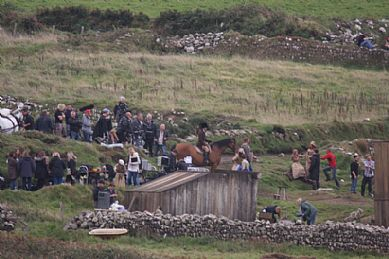 Behind the Scenes - Poldark Horse Scene at Botallack