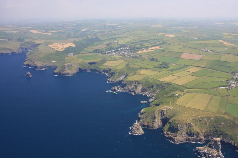 Aerial View of the Coastline between Boscastle and Tintagel