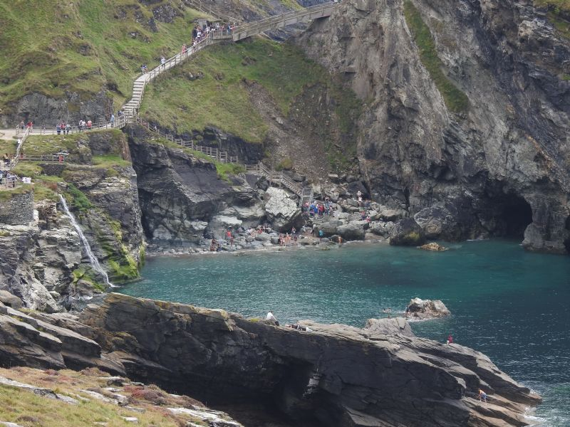 Merlin's Cave at Tintagel Haven