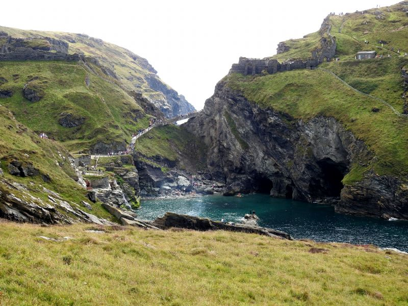 Tintagel Haven to the Island at Tintagel