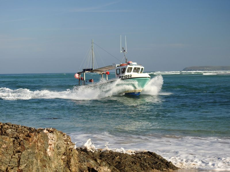 Hayle Fishing Boat Coming Home