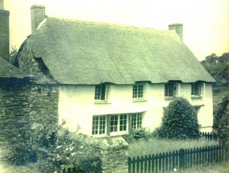 Cob walled, thatched cottage now demolished