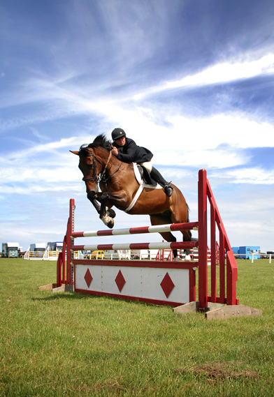 Show jumping at Camborne Show