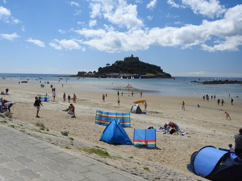 Marazion Beach and St Michael's Mount
