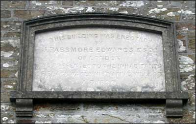 Passmore Edwards Plaque at Blackwater