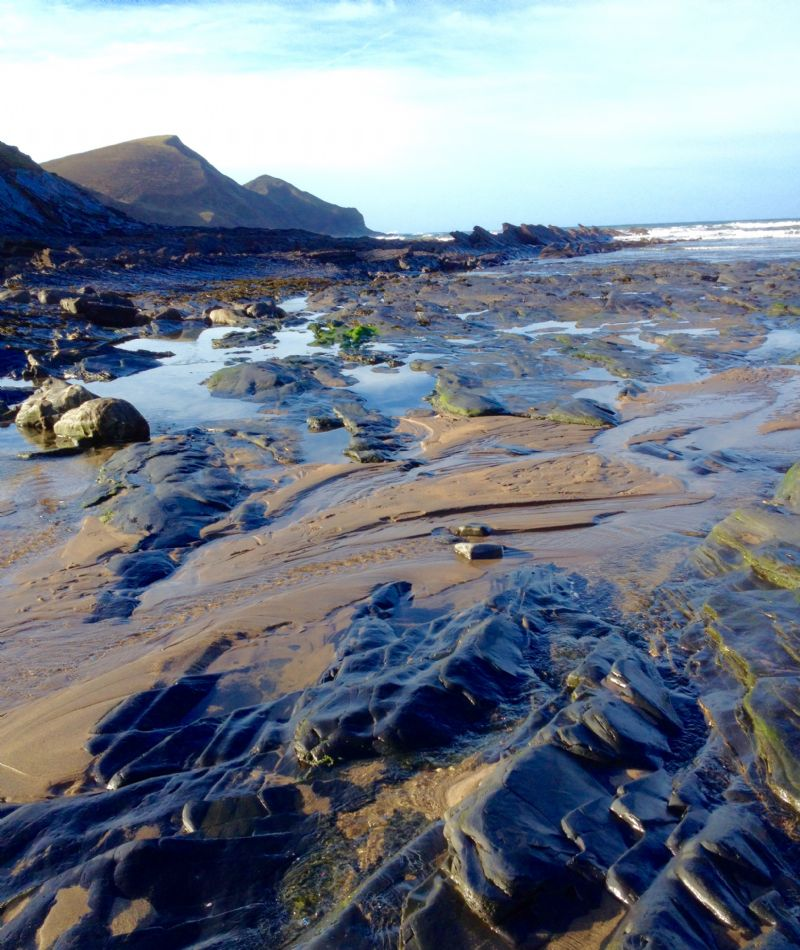 Crackington Haven beach after the storms in January 2016