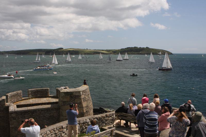 Falmouth - Enjoying the Fal Estuary from Pendennis Point