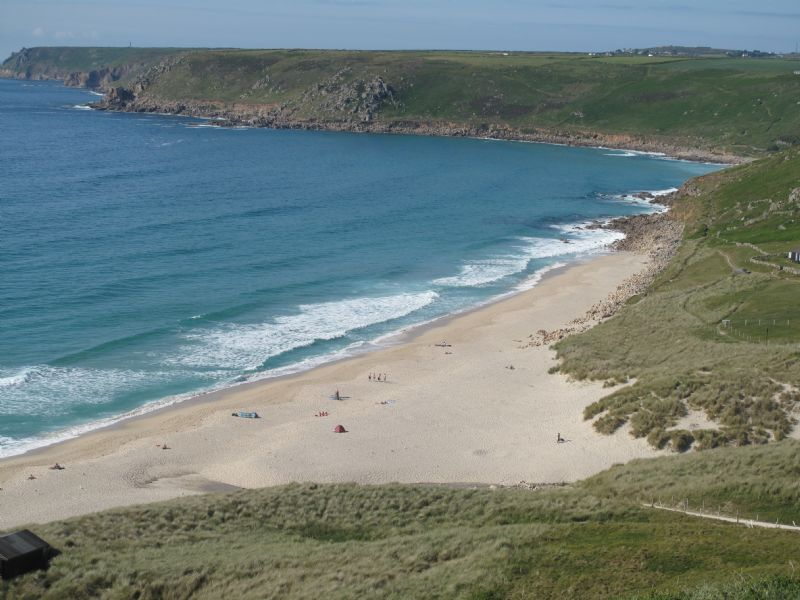 Eastern end of Sennen beach on the Land's End Peninsula